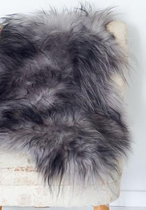 Isländskt långhårigt fårskinn, Eco grey - Skinn 1