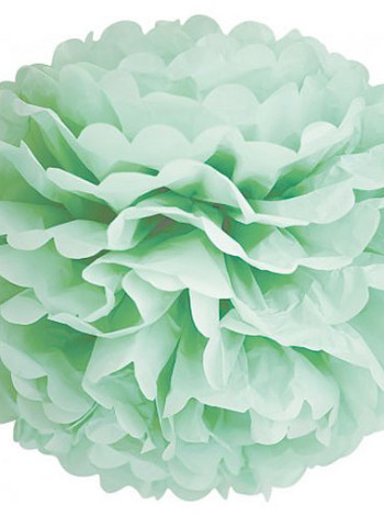 Pom poms flower mintgrön