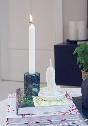 Ljusstake i grön marmor, Bloomingville