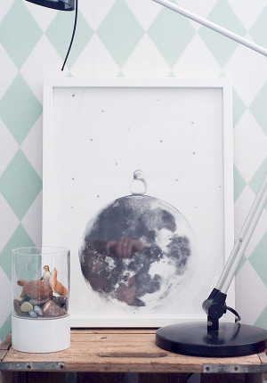 Poster Moon, Kajsa Wallin