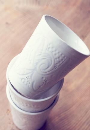 Mugg keramik, Gravé vit, Reunion home