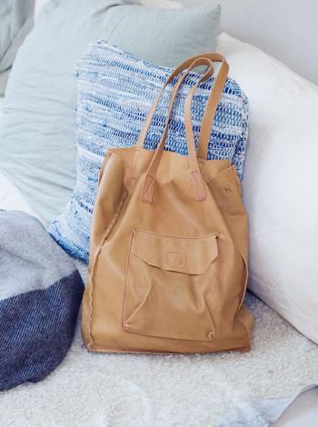 Läderväska, Naturfärgad, House Doctor
